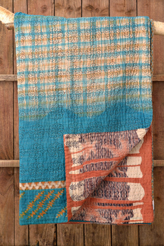 Kantha Quilt 23: by Shima