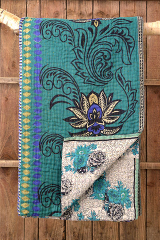 Kantha Quilt 2: by Rabeya