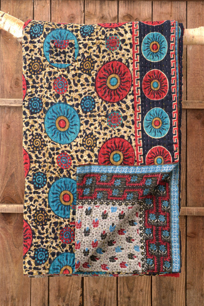 Kantha Quilt 3: by Akhlima - Sold - Decorator's Notebook