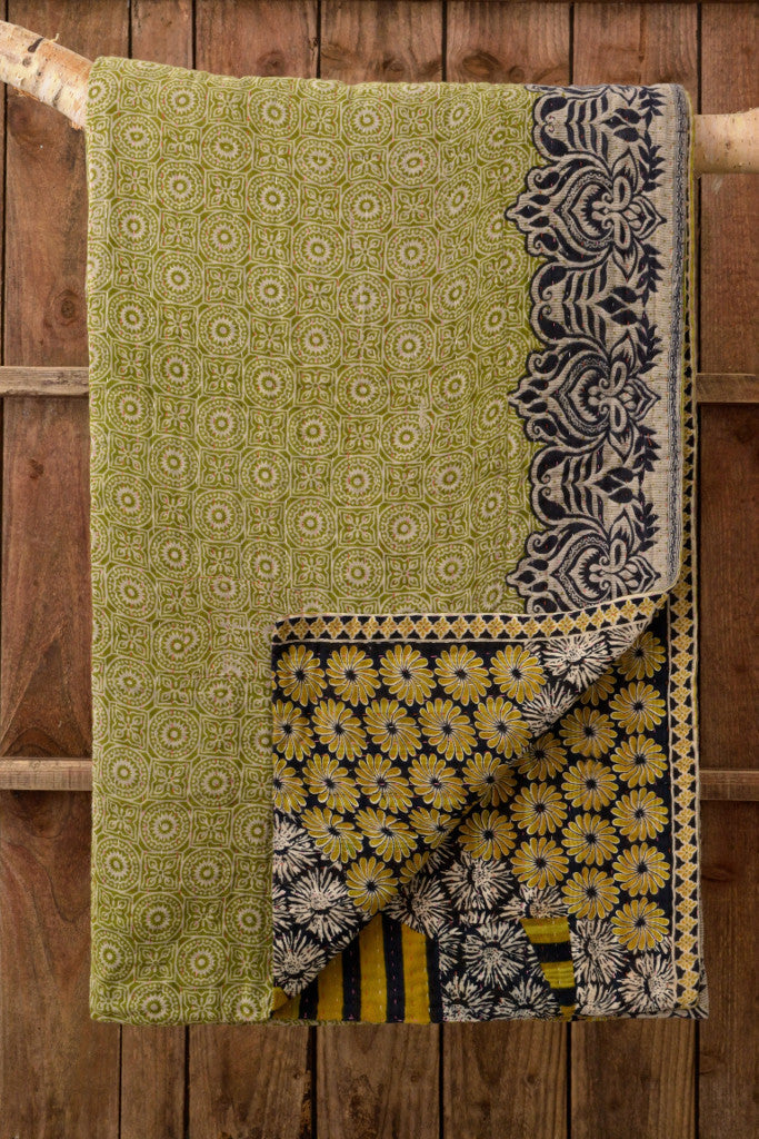 Kantha Quilt 4: by Jahanara - Sold - Decorator's Notebook