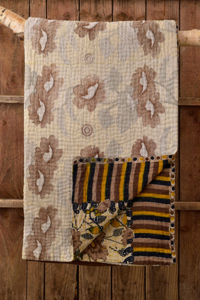 Kantha Quilt 8: by Hosneara - Throws and Quilts - Decorator's Notebook