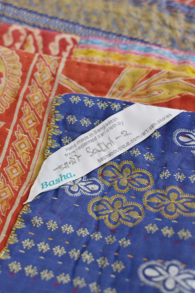 Kantha Quilt 9: by Sathi