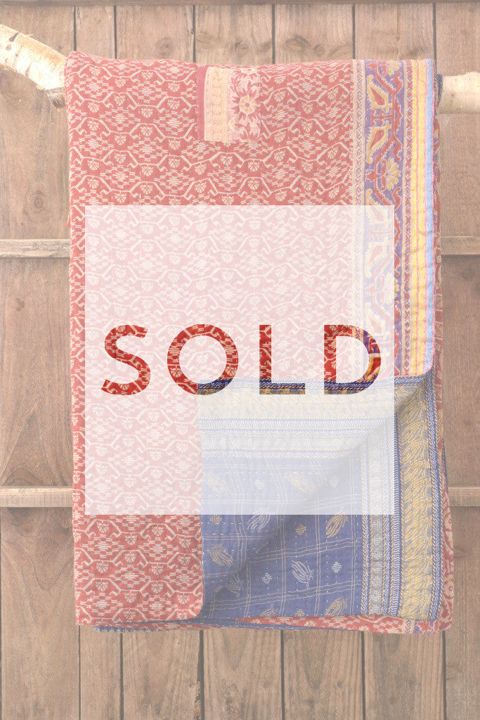Kantha Quilt 9: by Sathi - Sold - Decorator's Notebook