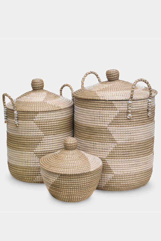 Ali Baba baskets: set of three - Baskets and Storage - Decorator's Notebook