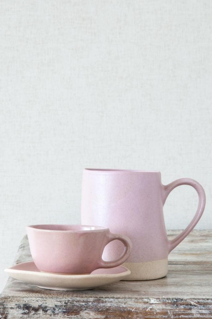 Organic espresso cup and saucer: Beetroot - Kitchen and Tableware - Decorator's Notebook