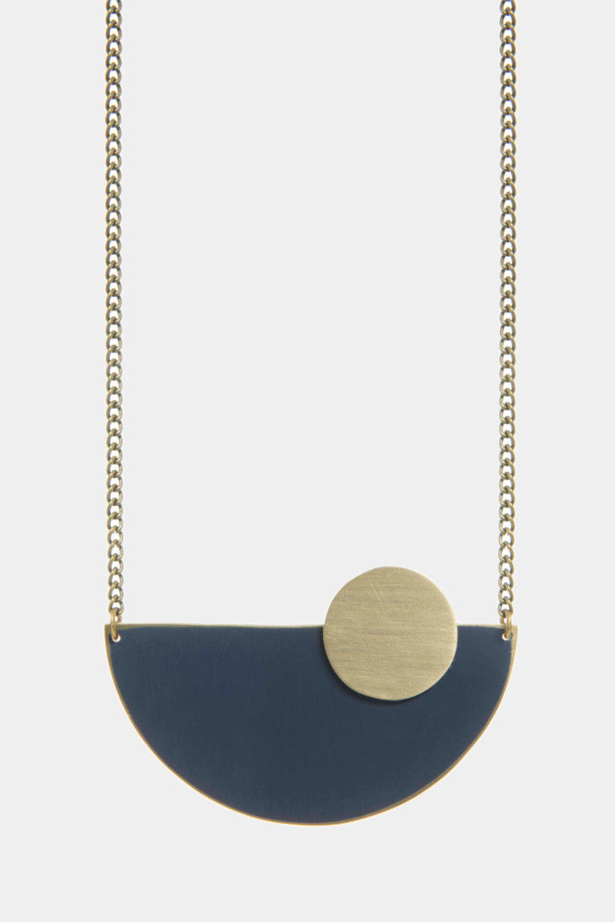 Moonrise blue semi-circle necklace - Jewellery - Decorator's Notebook
