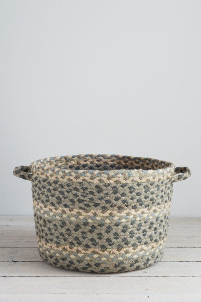 Braided utility basket: Pebble pale - Baskets and Storage - Decorator's Notebook