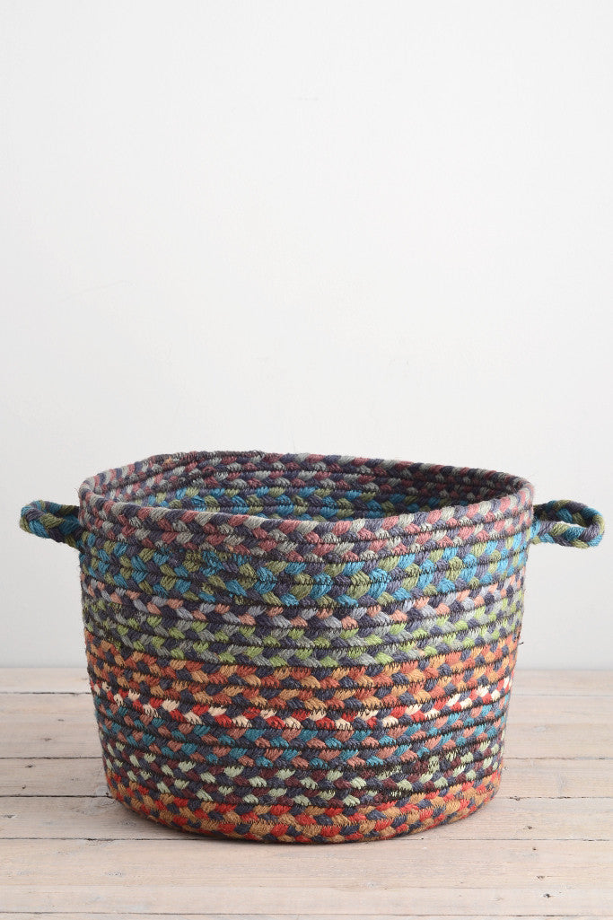 Braided utility basket: Carnival blue - Baskets and Storage - Decorator's Notebook