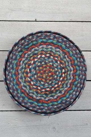 Carnival Blue braided placemats: set of six