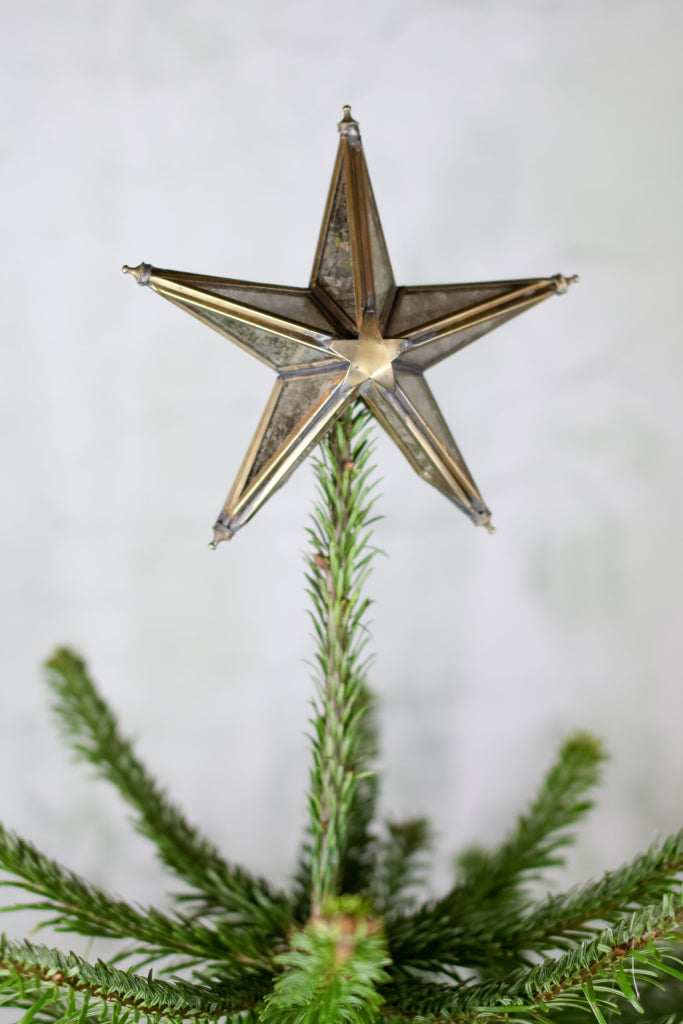 Brass star Christmas tree topper - Christmas - Decorator's Notebook