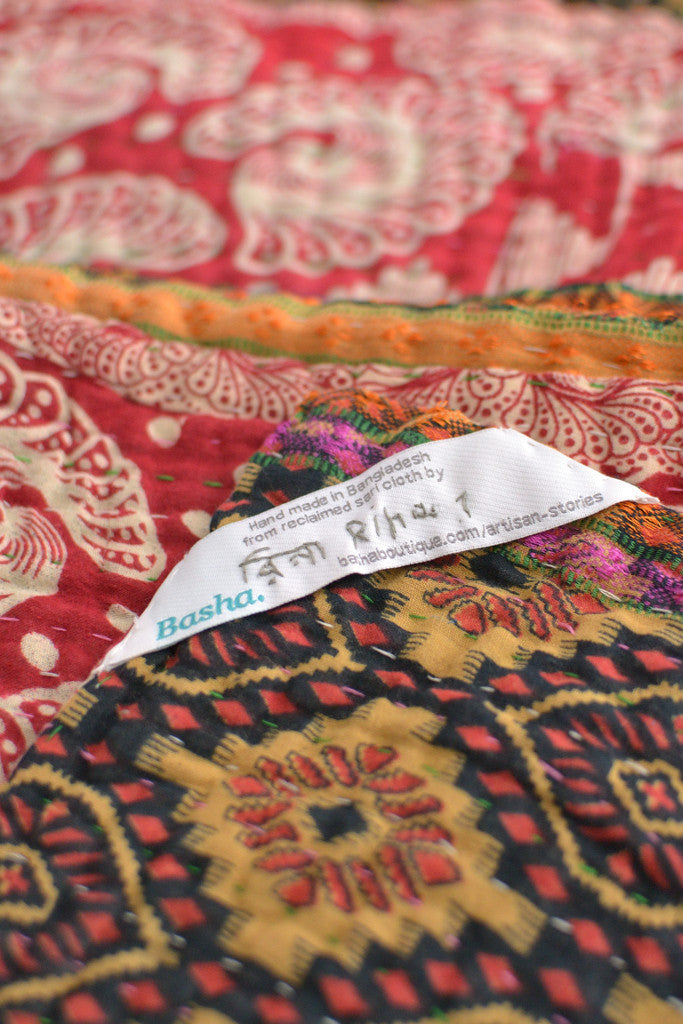 Kantha Quilt 16: by Rina - Sold - Decorator's Notebook