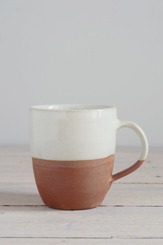 Dipped terracotta mug: white