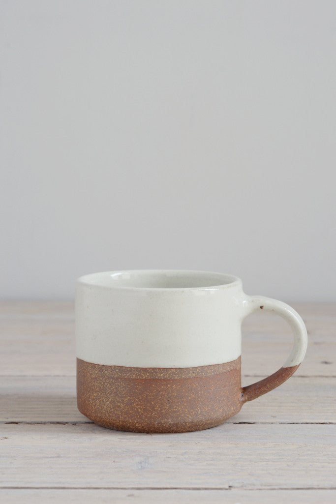 Dipped terracotta espresso mug: large