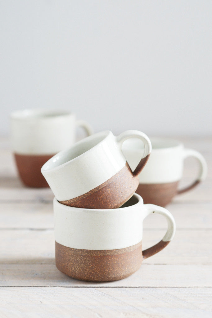 Dipped terracotta espresso mug: small