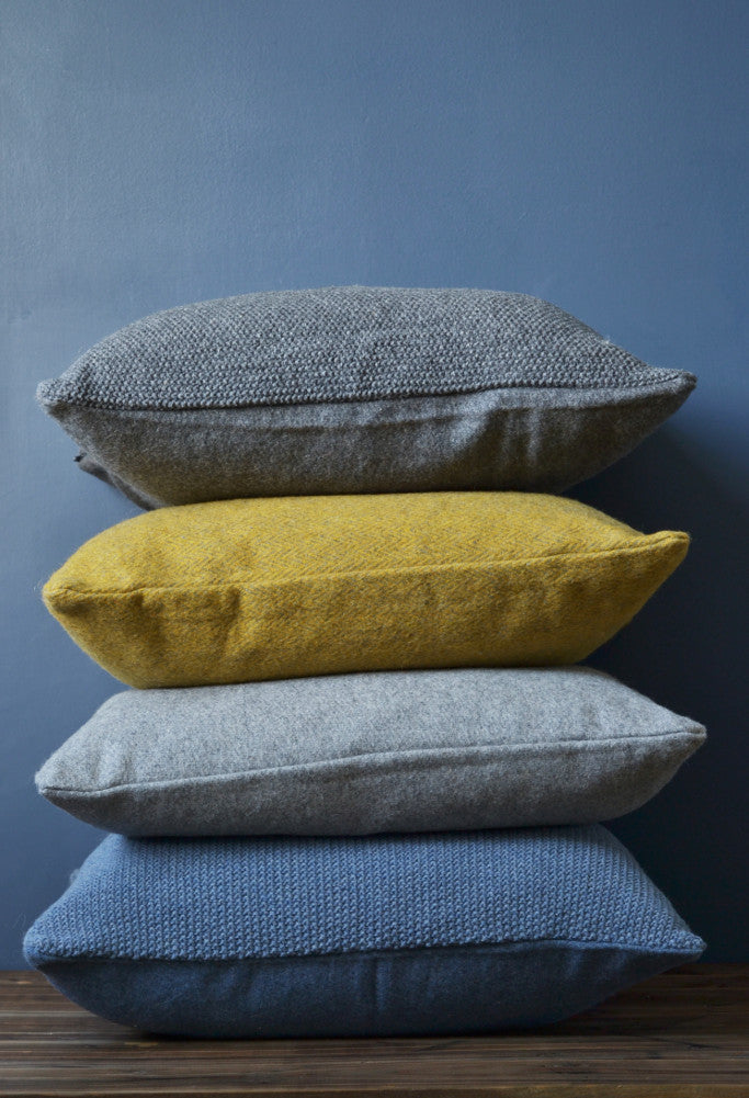 Knitted wool cushion cover: Dark Grey - Cushions - Decorator's Notebook