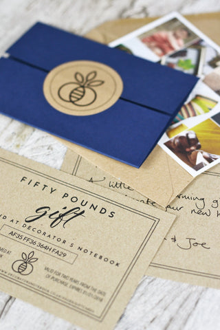 Gift Card: handcrafted and posted