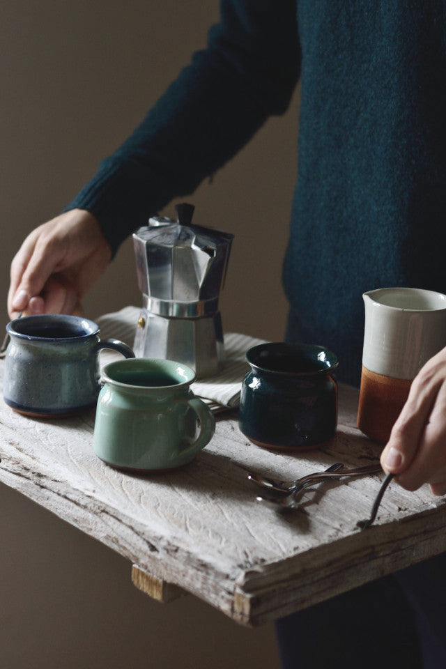 Short coffee cup: deep green - Kitchen and Tableware - Decorator's Notebook
