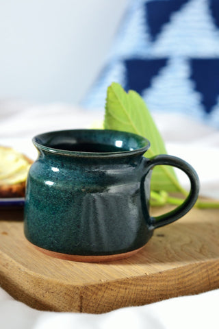 Short coffee cup: deep green