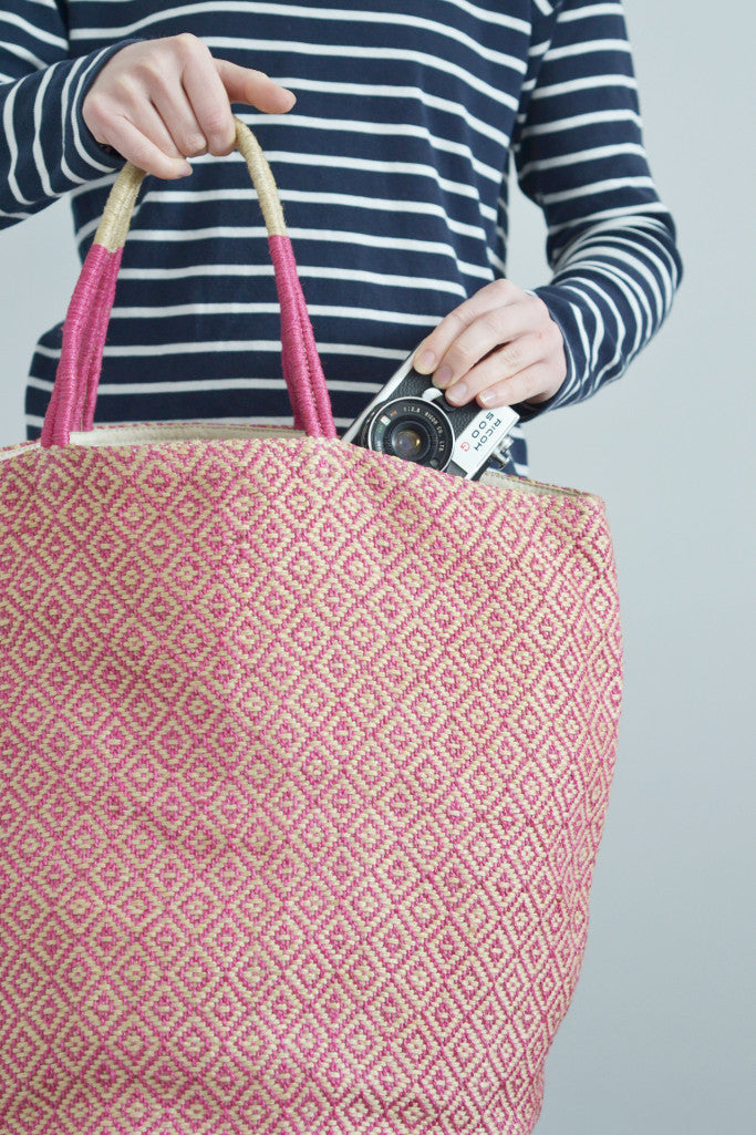 Jute bag: Pink diamonds - Bags - Decorator's Notebook