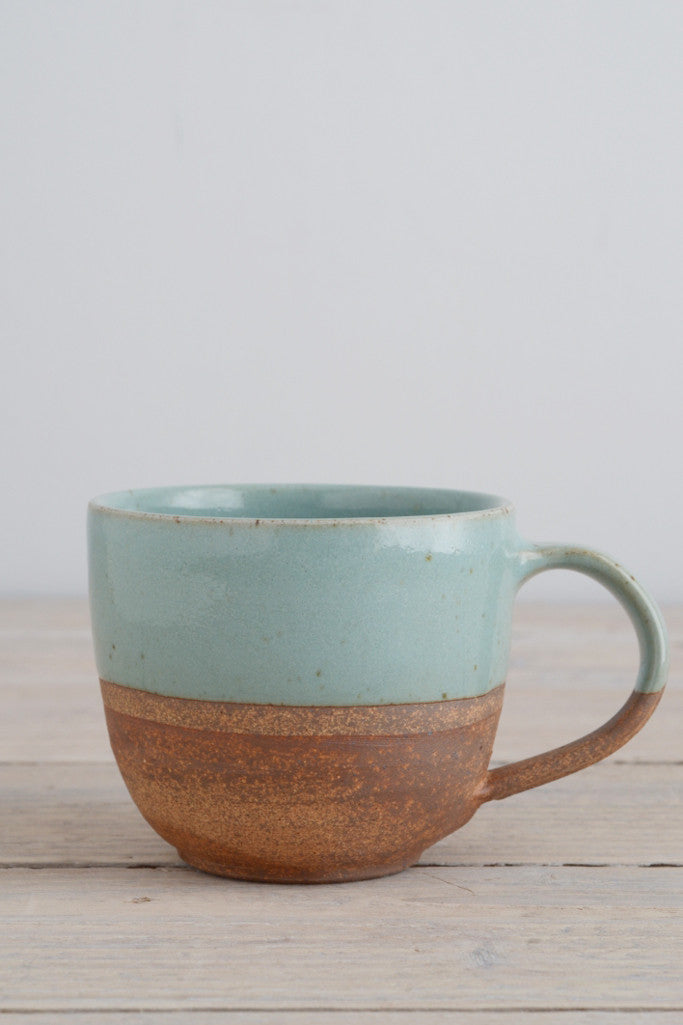 Dipped terracotta cup: seafoam - Kitchen and Tableware - Decorator's Notebook