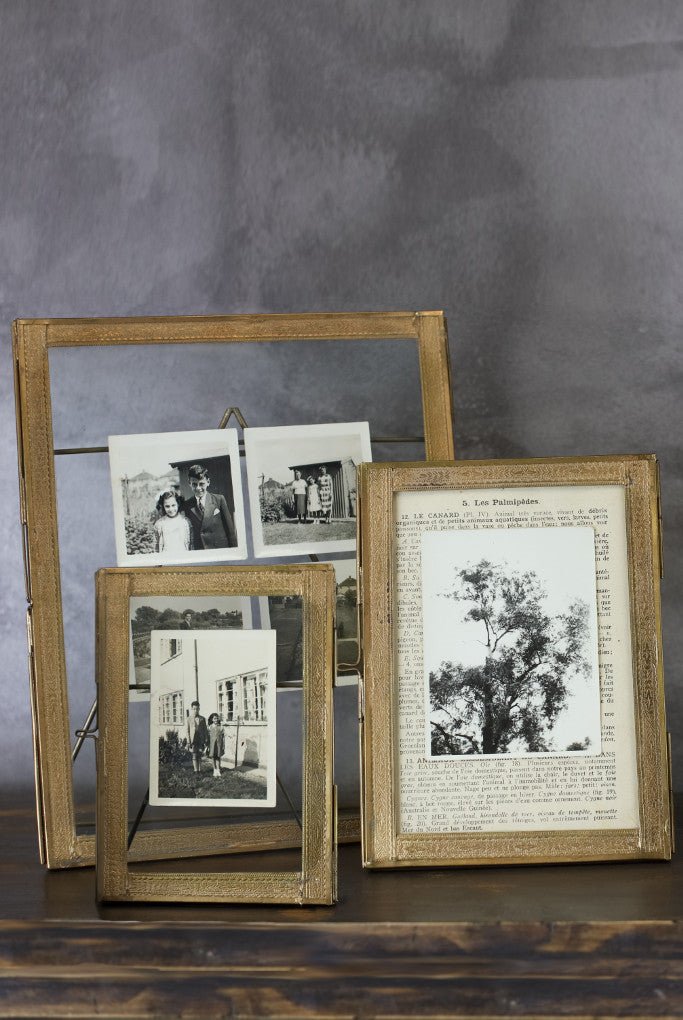 Double sided picture frame: standing brass - Pictures and Frames - Decorator's Notebook