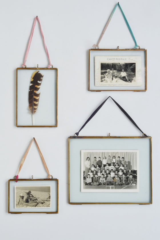 Double sided picture frame: hanging brass - Pictures and Frames - Decorator's Notebook