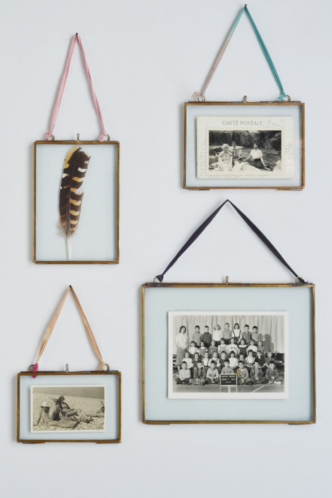 Double Sided Picture Frame Brass Kiko Brass Frames By Nkuku