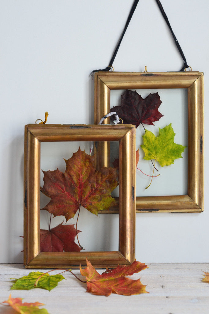 Double sided picture frame: vintage brass - Pictures and Frames - Decorator's Notebook