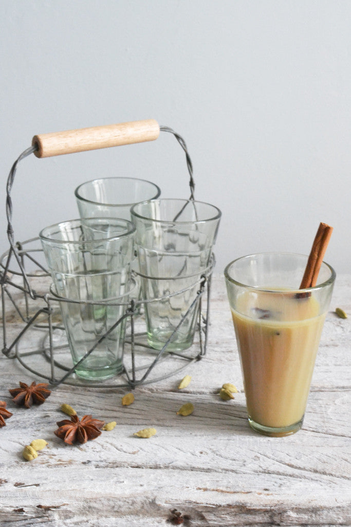Chai tea glasses: set of four - Kitchen and Tableware - Decorator's Notebook