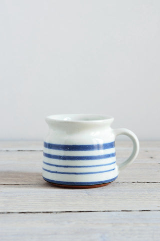 Short coffee cup: blue stripe