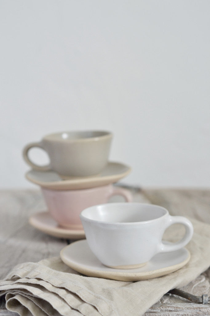 Organic espresso cup and saucer: Fennel - Kitchen and Tableware - Decorator's Notebook