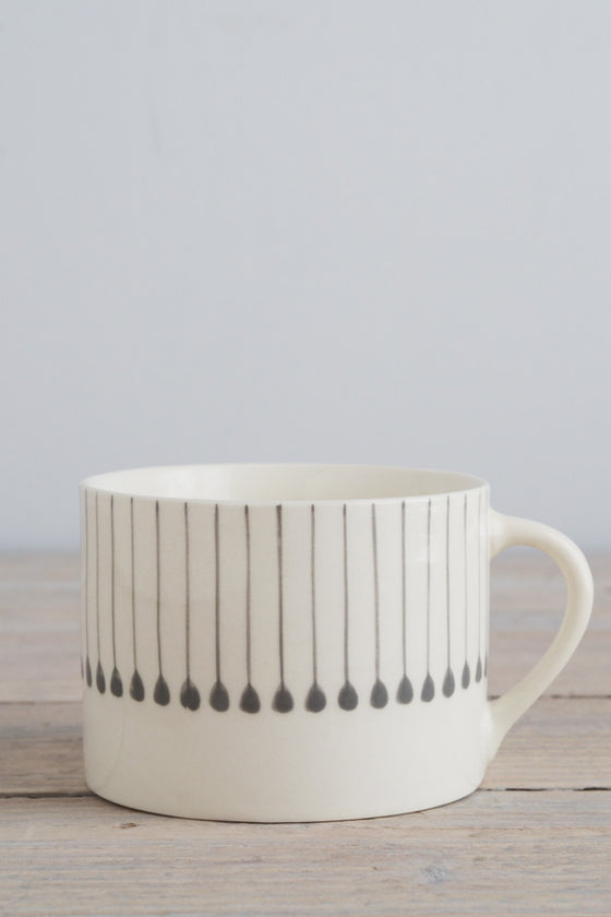 Grey line mug - Kitchen and Tableware - Decorator's Notebook