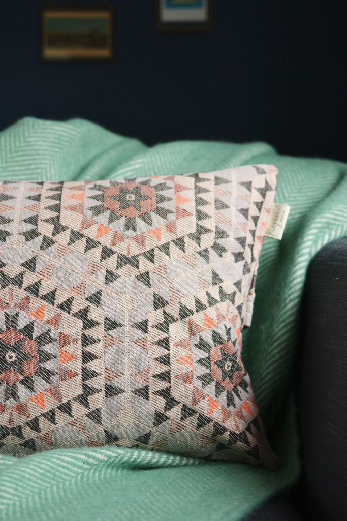 Honeycomb cushion cover: warm grey - Cushions - Decorator's Notebook
