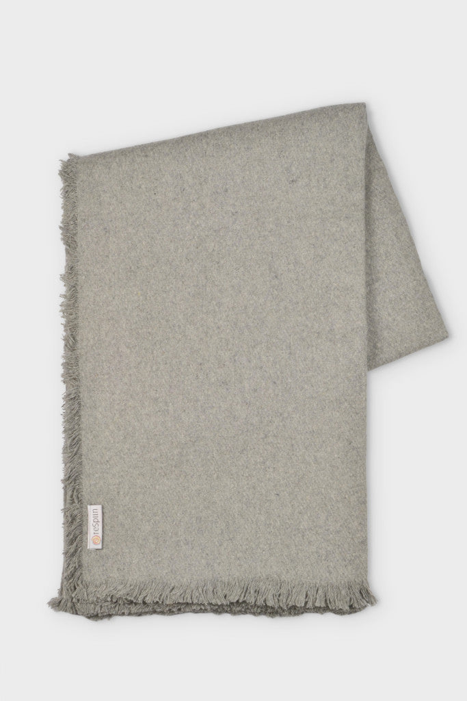Woven wool throw: Light Grey - Throws and Quilts - Decorator's Notebook