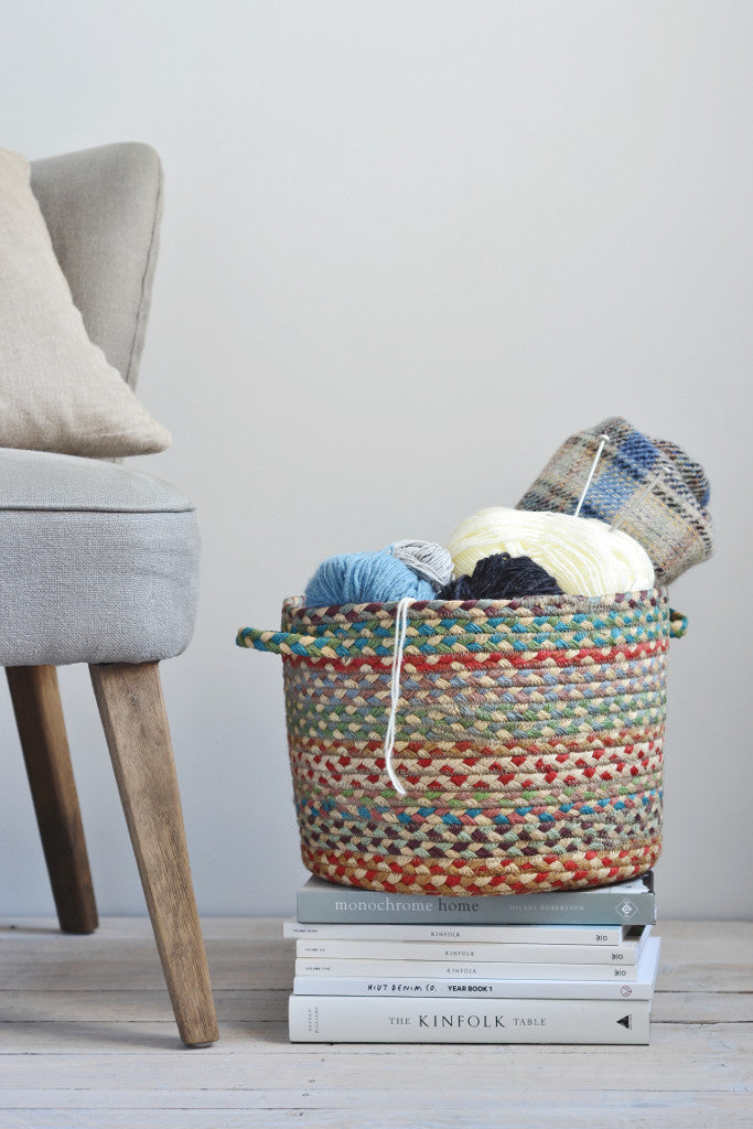 Braided utility basket: Carnival - Baskets and Storage - Decorator's Notebook