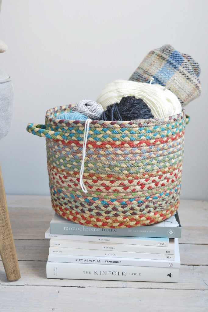 Braided utility basket: Carnival