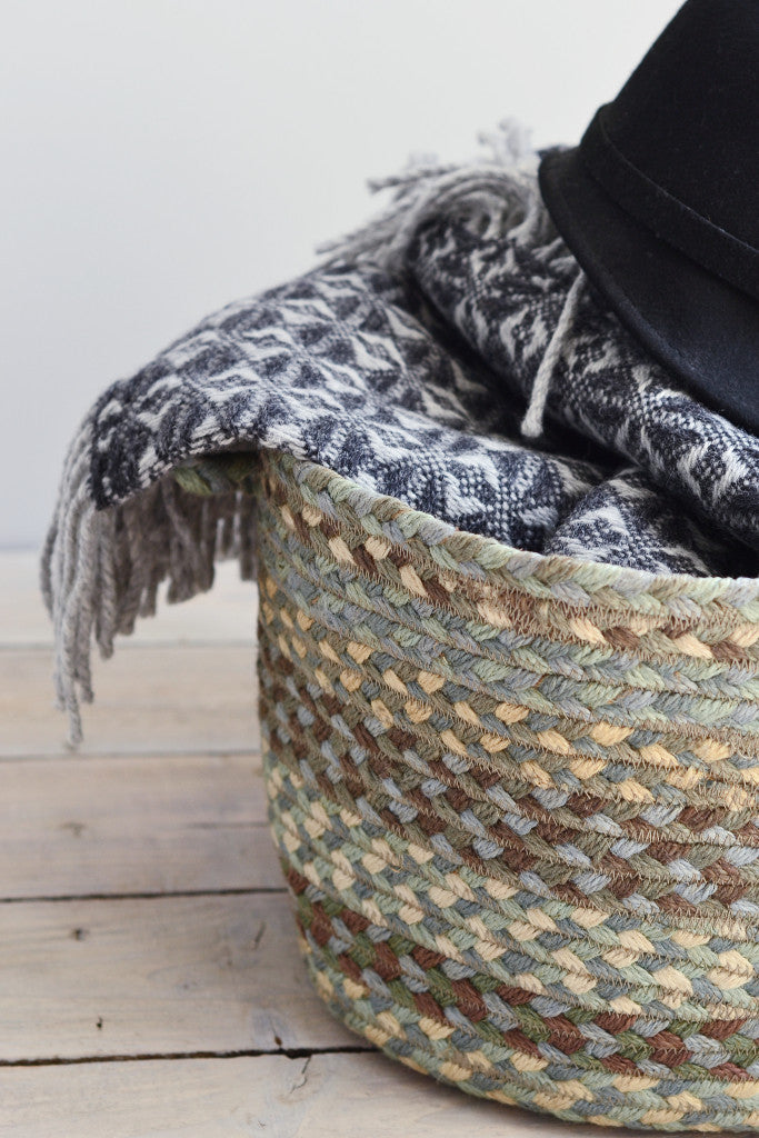 Braided utility basket: Seaspray