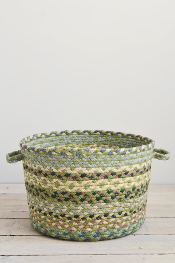 Braided utility basket: Mint green - Baskets and Storage - Decorator's Notebook