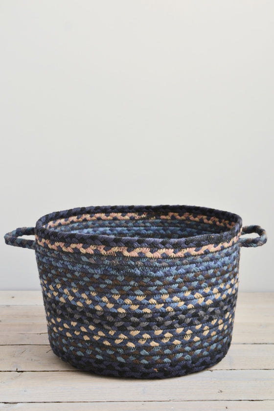 Braided utility basket: Midnight blue - Baskets and Storage - Decorator's Notebook