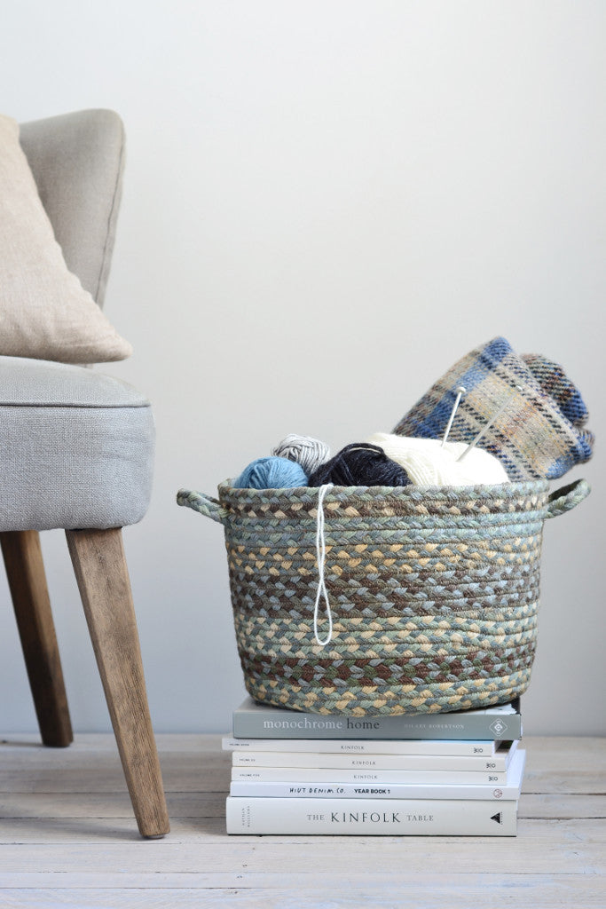 Braided utility basket: Seaspray - Baskets and Storage - Decorator's Notebook