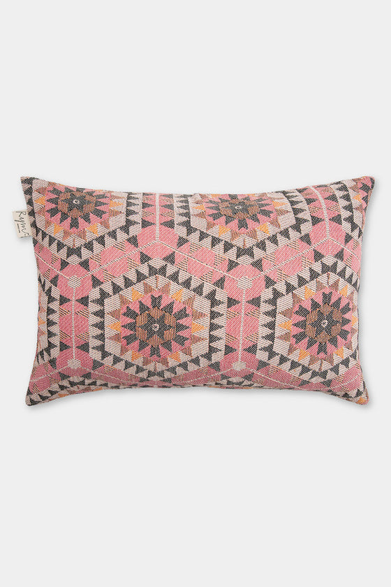 Honeycomb cushion cover: rose pink