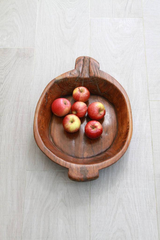 Reclaimed Natural Wood Serving Bowl