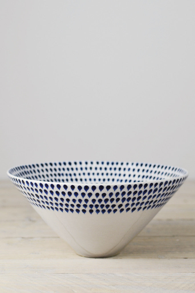 Indigo drop serving bowl - Kitchen and Tableware - Decorator's Notebook