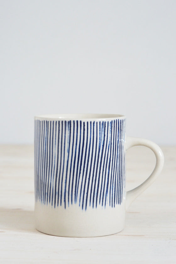 Indigo Scratch mug - Kitchen and Tableware - Decorator's Notebook