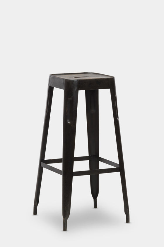 'Chari' industrial Tolix style metal bar stool - Furniture - Decorator's Notebook