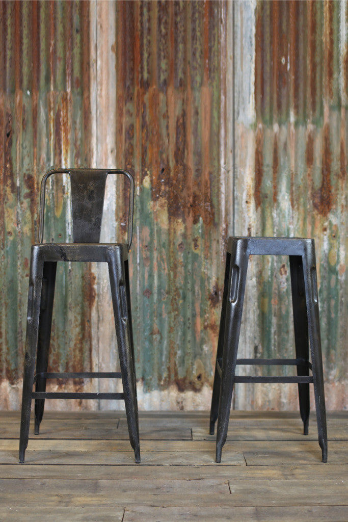 'Chari' industrial Tolix style metal bar chair - Furniture - Decorator's Notebook