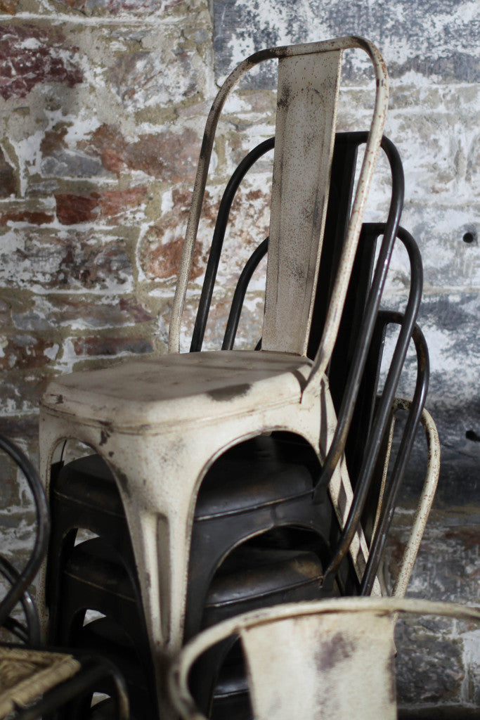'Chari' industrial Tolix style metal chair: iron - Furniture - Decorator's Notebook