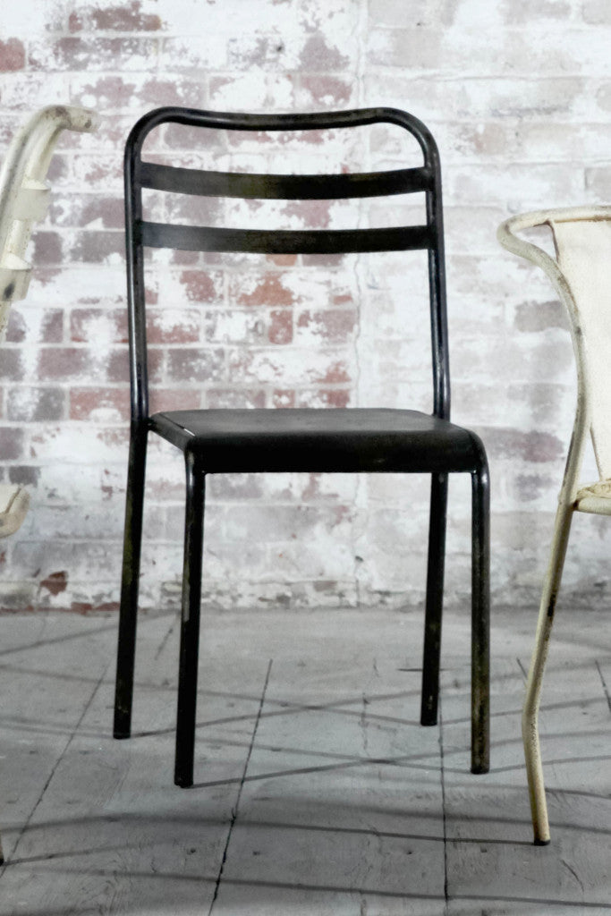 'Leta' stacking industrial dining chair: iron - Furniture - Decorator's Notebook