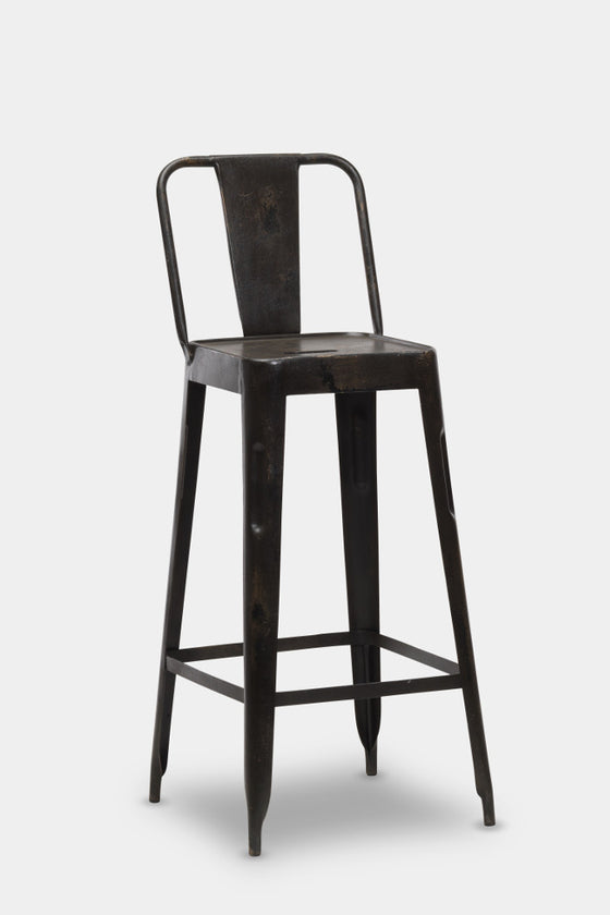 industrial metal furniture. \u0027Chari\u0027 Industrial Tolix Style Metal Bar Chair. \u0027 Furniture