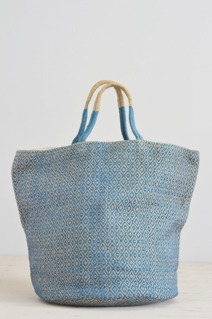 Jute bag: Blue diamonds - Bags - Decorator's Notebook